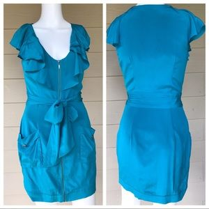 BEBE Silk Belted Dress XS